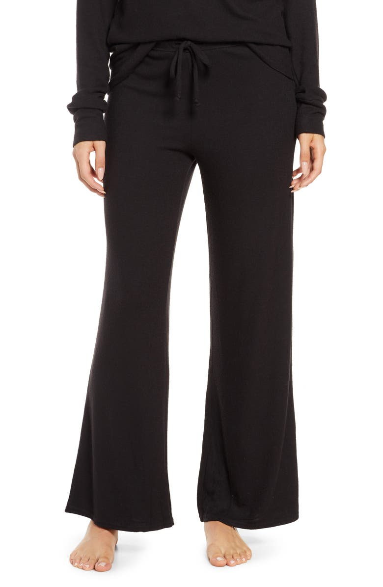 NORDSTROM Flare Leg Lounge Pants, Main, color, 001