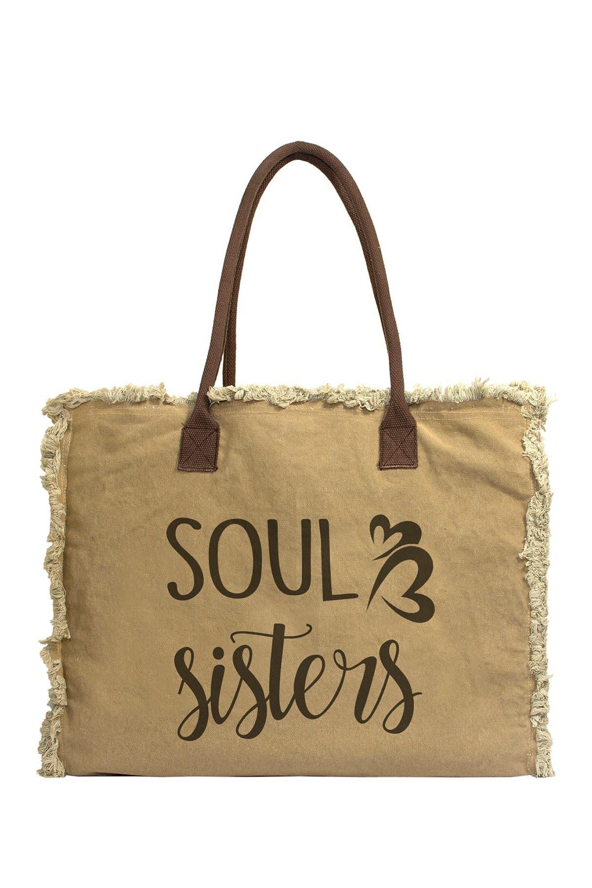 Image of Vintage Addiction Soul Sister Canvas Tote Bag