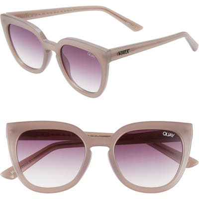 Quay Australia Noosa 50Mm Square Sunglasses - Taupe/ Purple