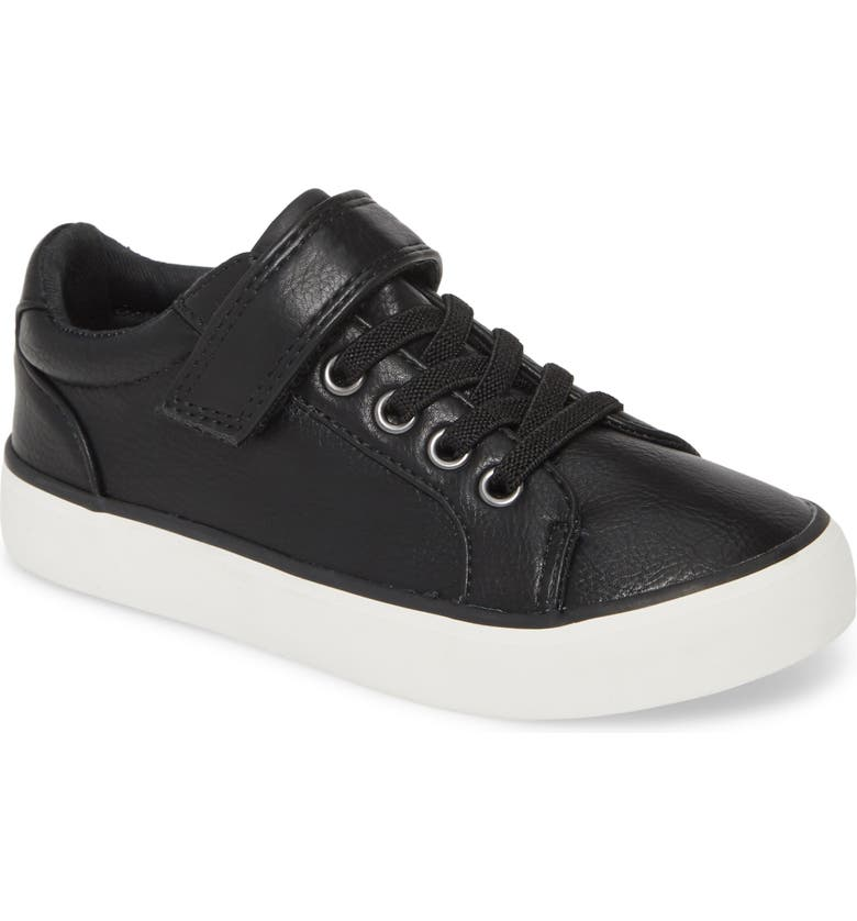 1901 Faux Leather Sneaker, Main, color, 001