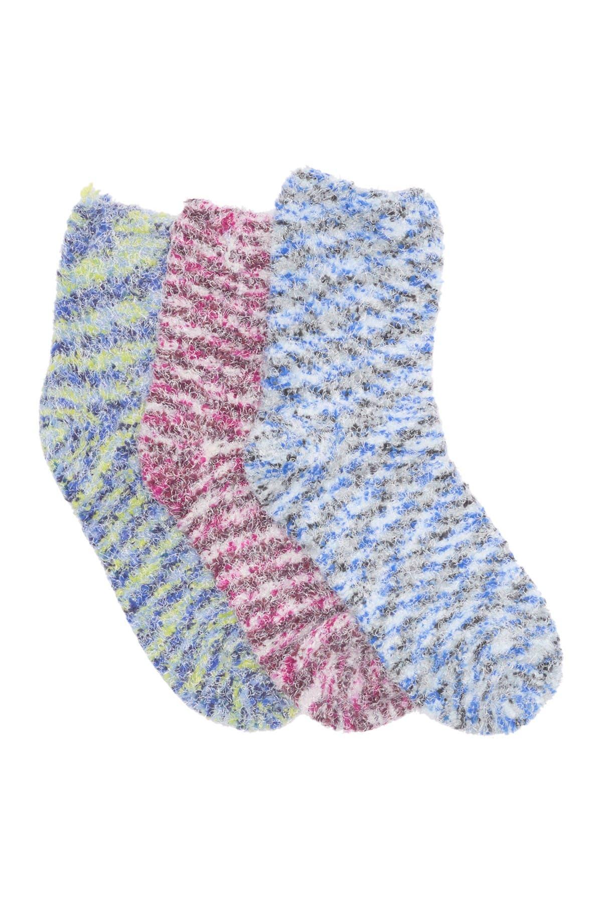 Image of Felina Multi Fuzzy Lounge Socks - Pack of 3