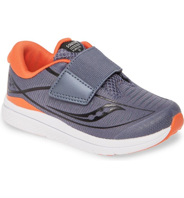 SAUCONY Kinvara<sup>®</sup> 10 Jr Sneaker, Main, color, GREY/ ORANGE
