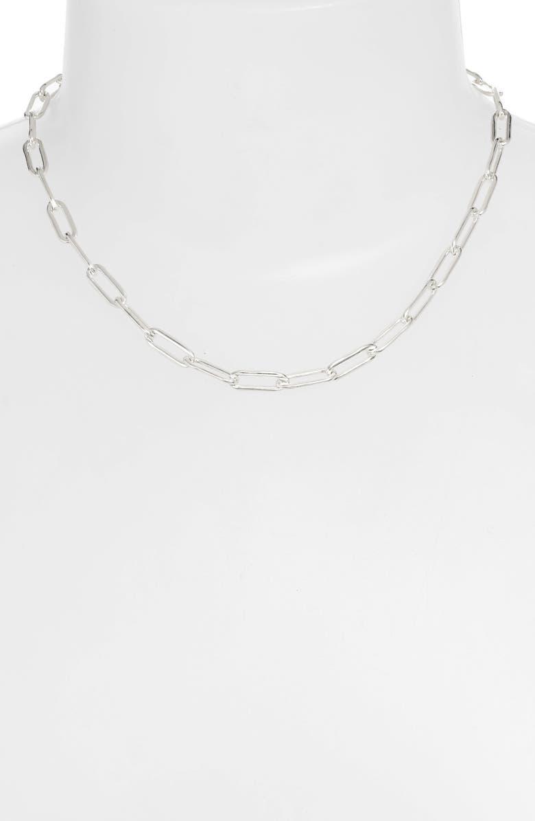 LOREN STEWART Noir East Extra Long Link Choker, Main, color, 040