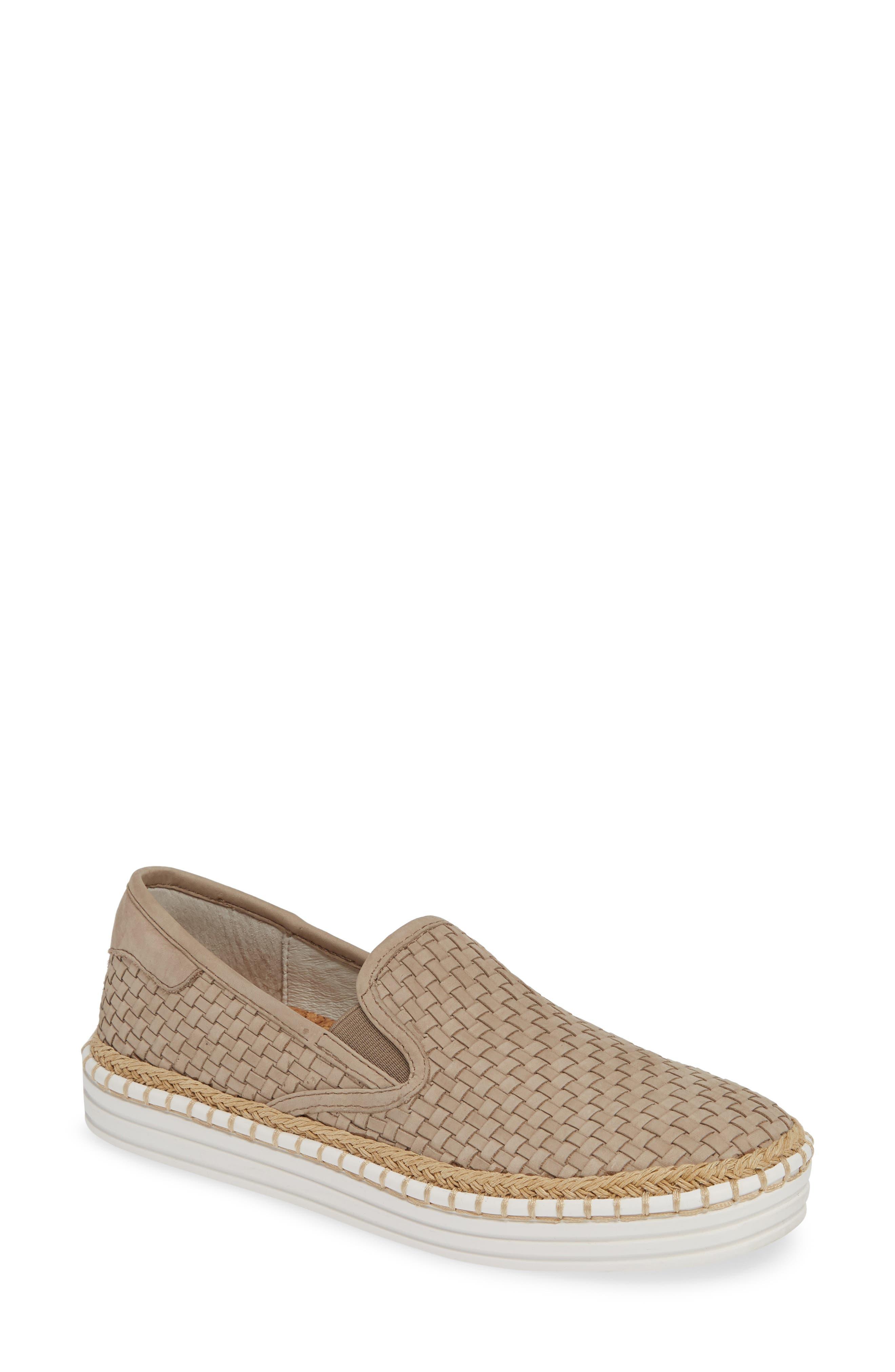 Jslides Kelly Woven Slip-On Sneaker- Beige