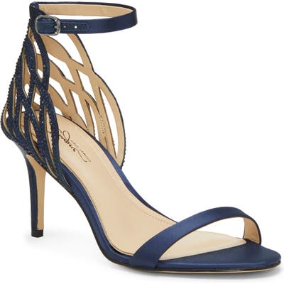 Imagine Vince Camuto Pharra Crystal Ankle Strap Sandal- Blue