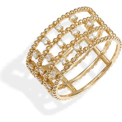 Bony Levy 18K Gold & Diamond Cage Ring (Nordstrom Exclusive)