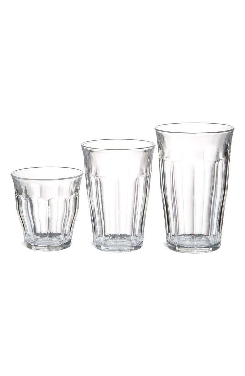 DURALEX USA Duralex 'Picardie' Tempered Glass Tumblers, Main, color, CLEAR
