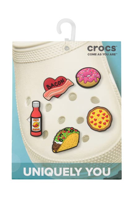 Image of Crocs Jibbitz Trendy Food - Pack of 5