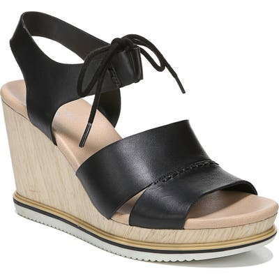 Dr. Scholls Summertime Wedge Sandal- Black