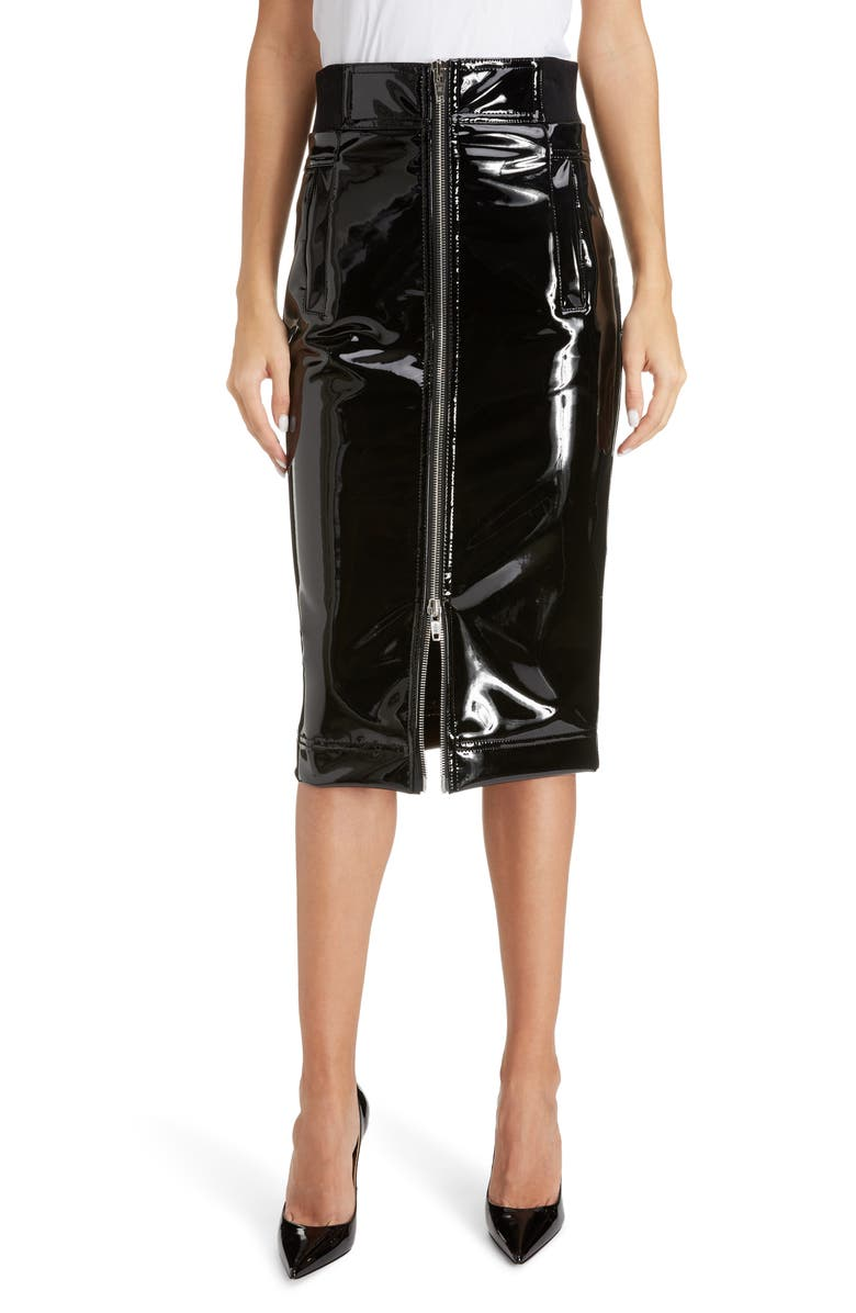 THE MARC JACOBS The Pencil Skirt, Main, color, BLACK