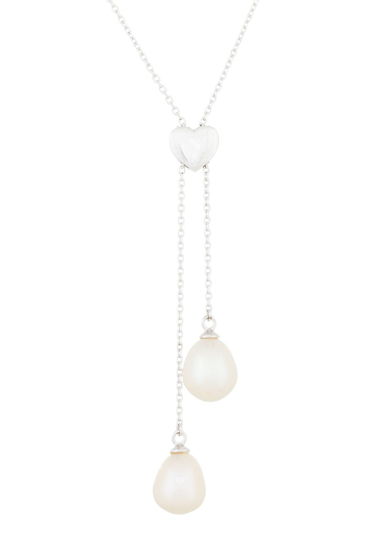 Image of Splendid Pearls Double Dangling Cultured Freshwater 7.5-8mm Pearl Pendant