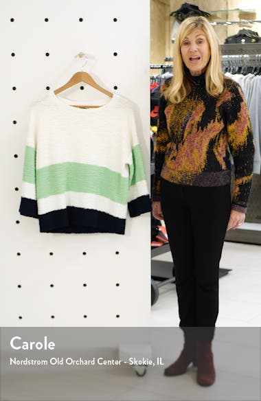 Colorblock Teddy Knit Sweater, sales video thumbnail