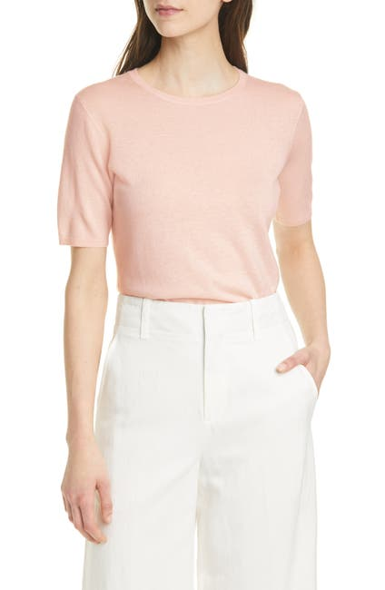 Image of Nordstrom Signature Short Sleeve Cashmere Sweater