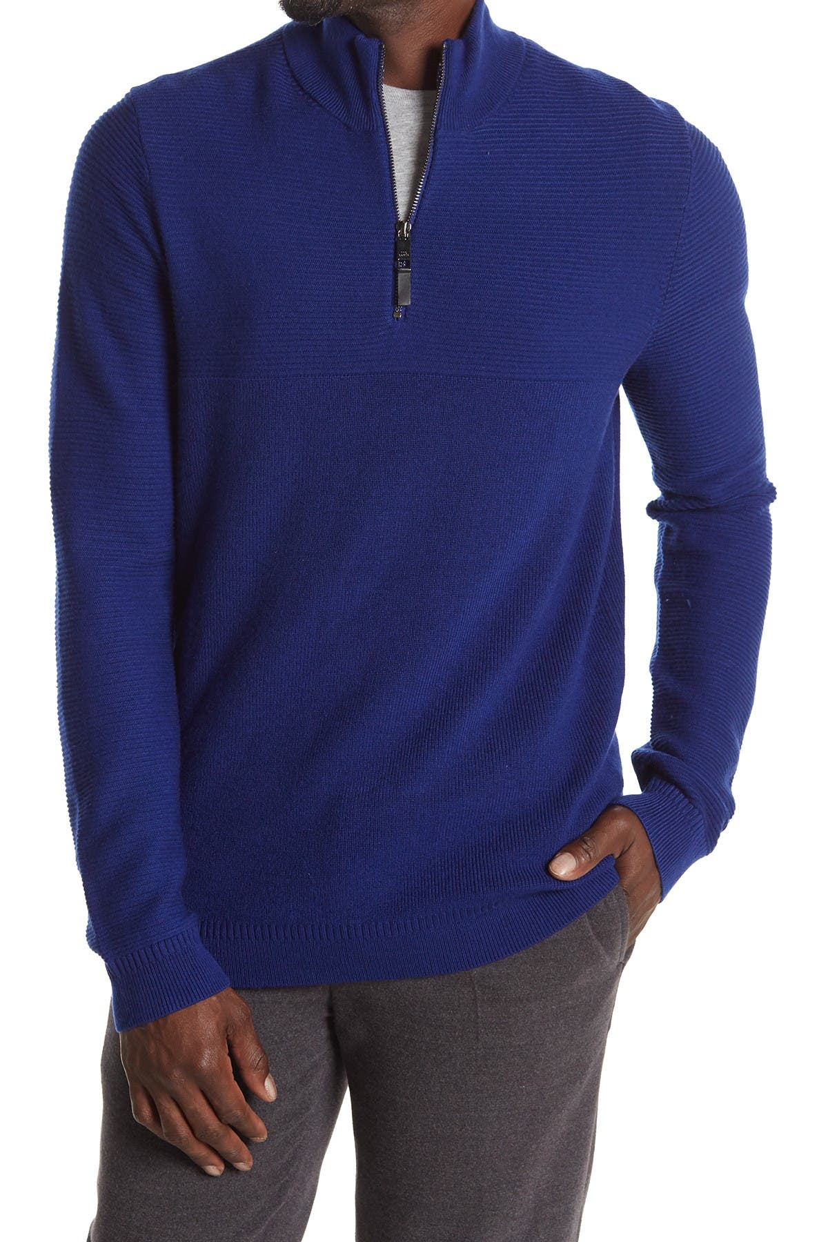Image of Ted Baker London Long Sleeve Half Zip Funnel Neckl Pullover