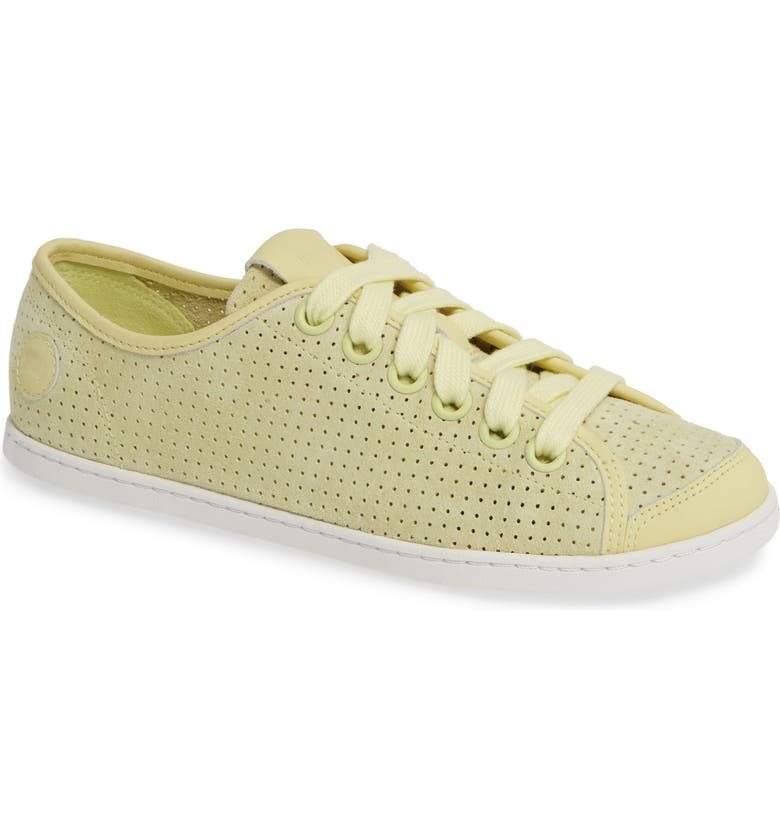 CAMPER Uno Perforated Sneaker, Main, color, LT/ PASTEL YELLOW LEATHER