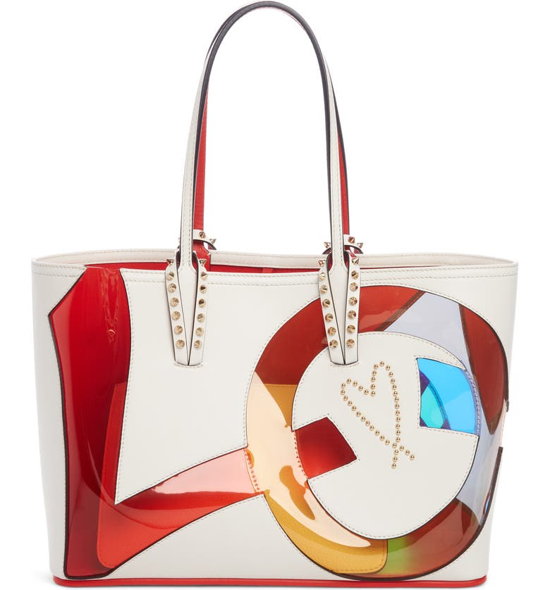 465a2fd24ac Christian Louboutin Small Cabata Love Embellished Leather Tote ...