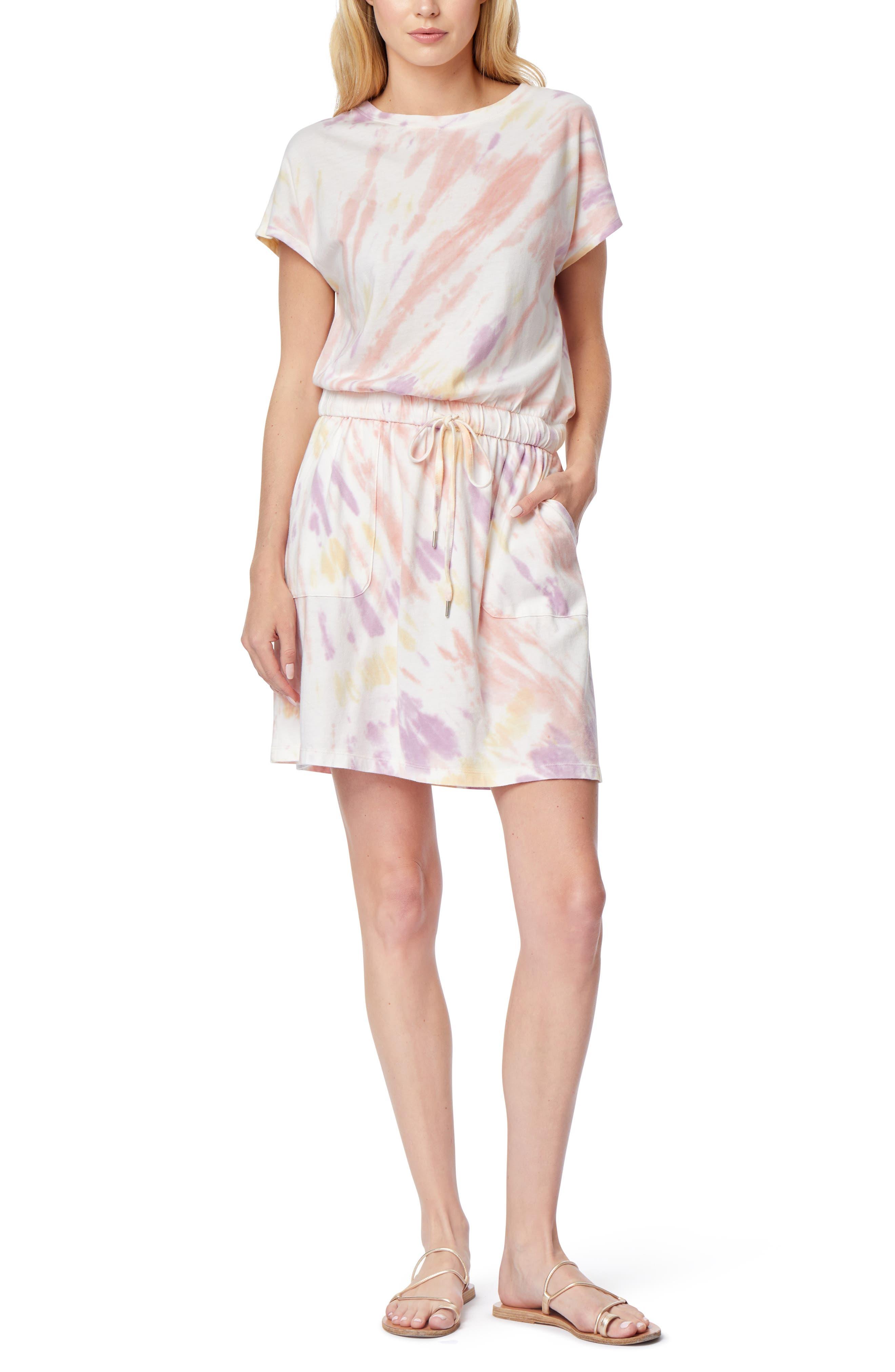 Barbara Tie Dye Dolman Sleeve Pocket Jersey Dress