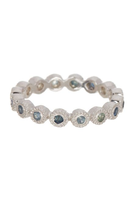 Image of Forever Creations USA Inc. Sterling Silver Sapphire Band