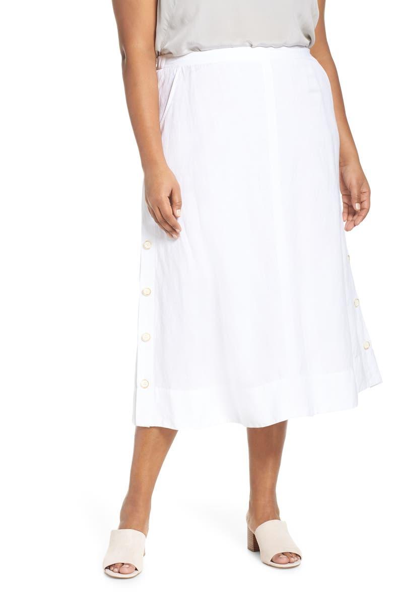 NIC+ZOE Front Runner Skirt, Main, color, PAPER WHITE