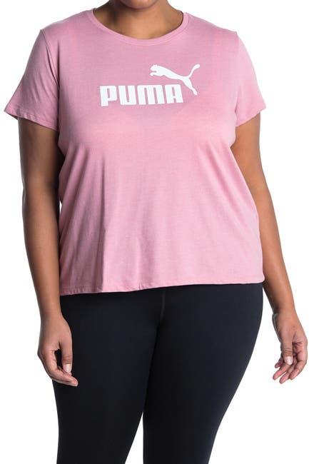 Image of PUMA Logo Heathered Short Sleeve Tee
