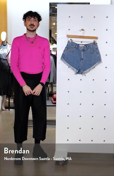 Kiri Frayed Denim Shorts, sales video thumbnail