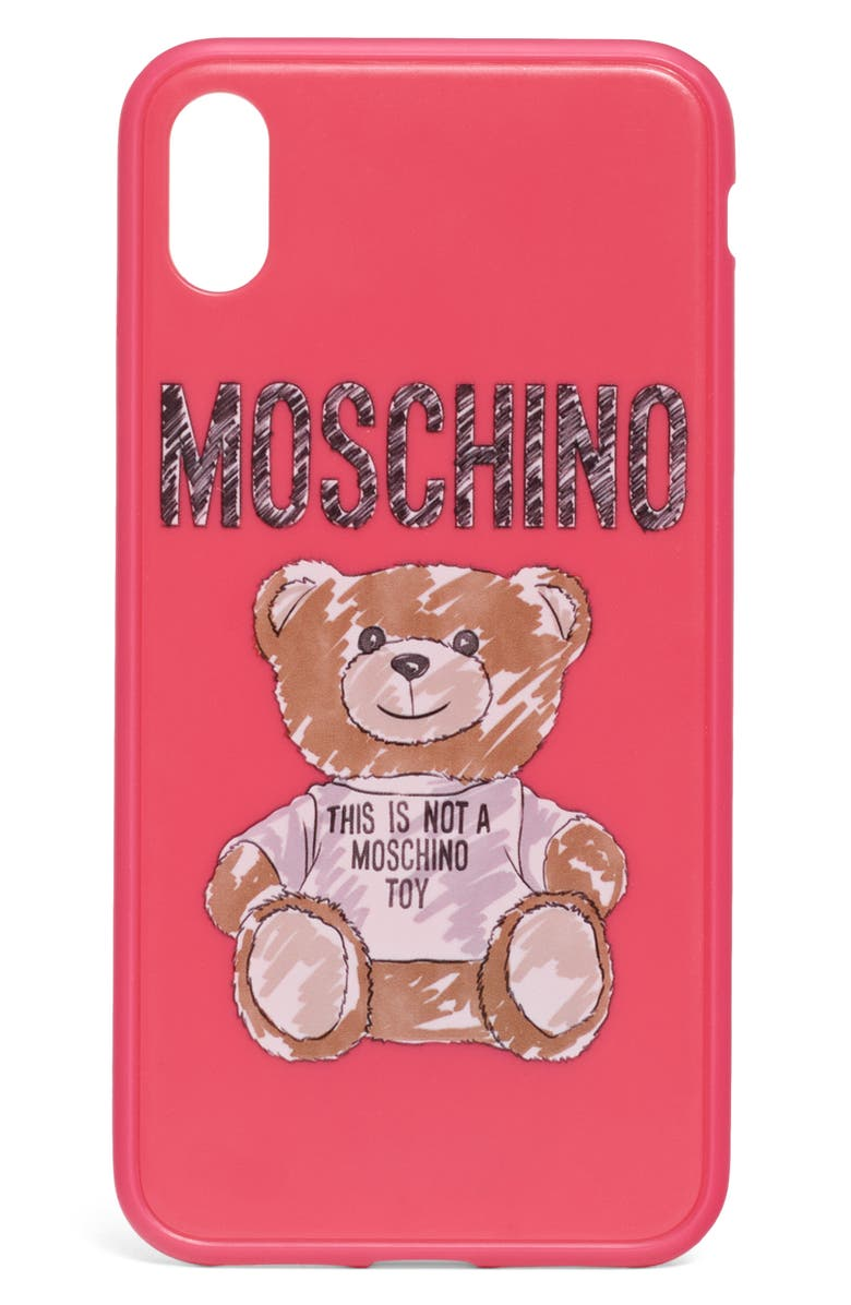 MOSCHINO Scribble Teddy Logo iPhone Xs/Xs Max & XR Case, Main, color, 699