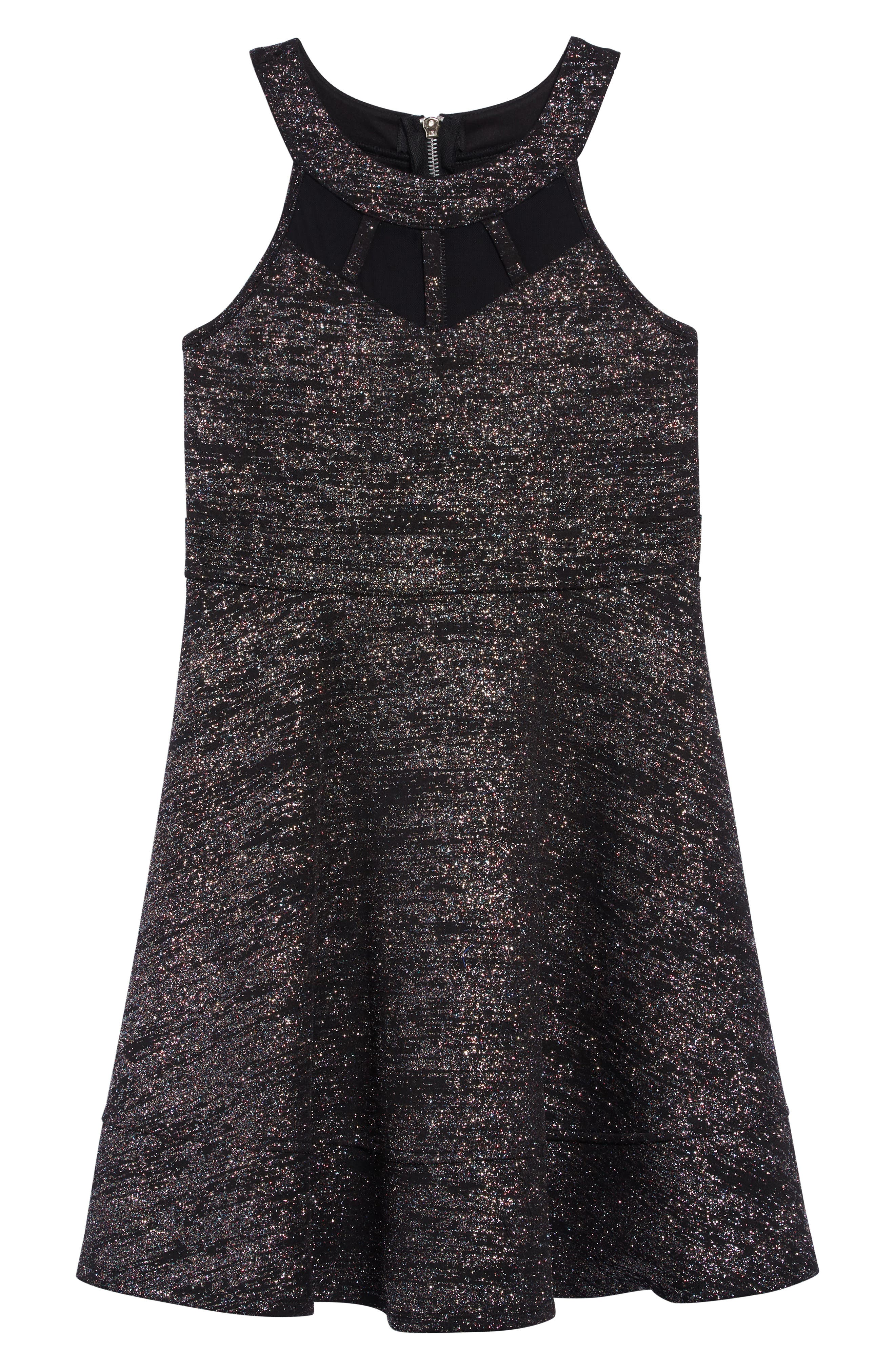 Image of Love, Nickie Lew Multicolor Glitter Illusion Dress