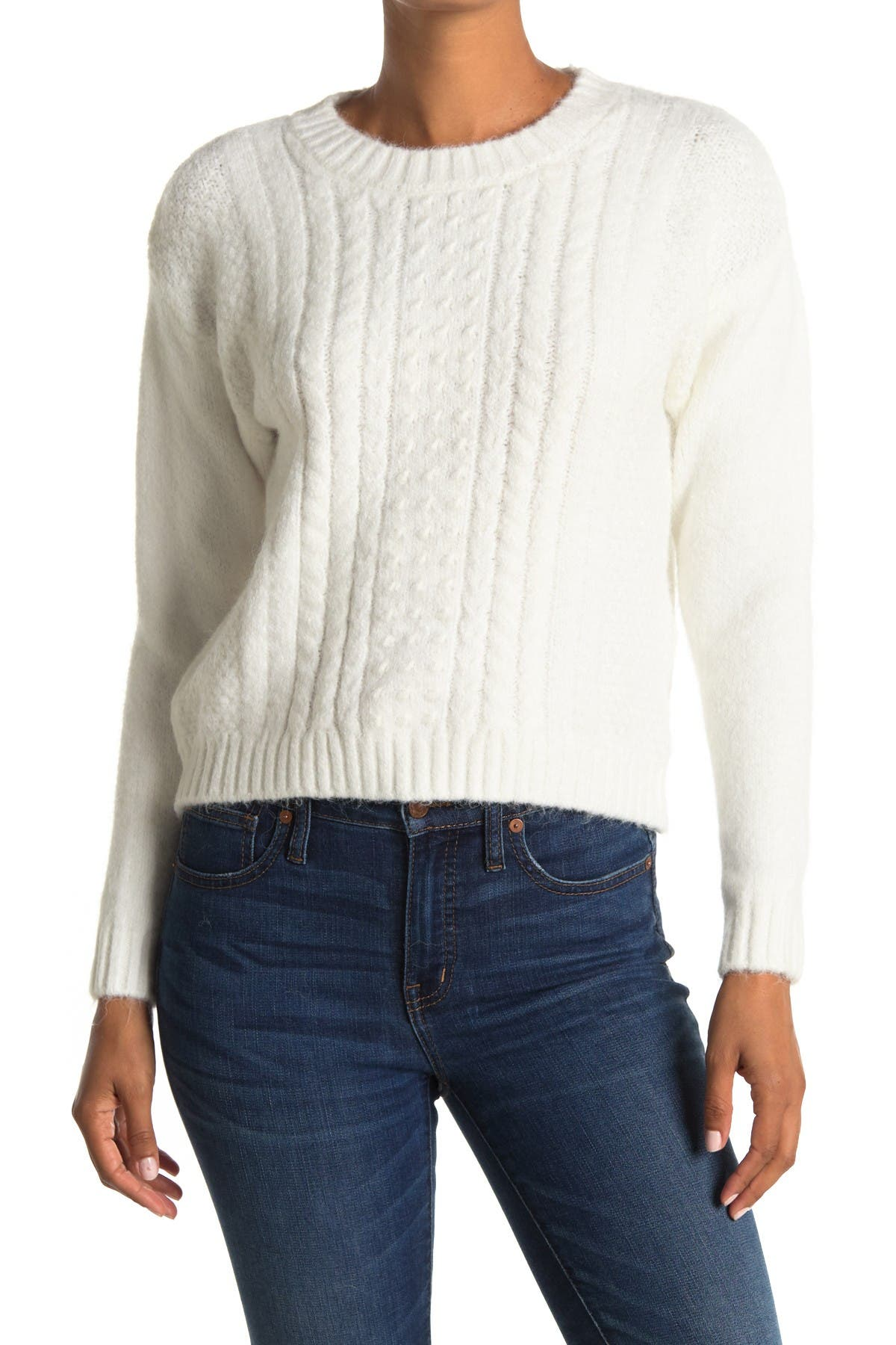Image of Max Studio Cable Knit Sweater