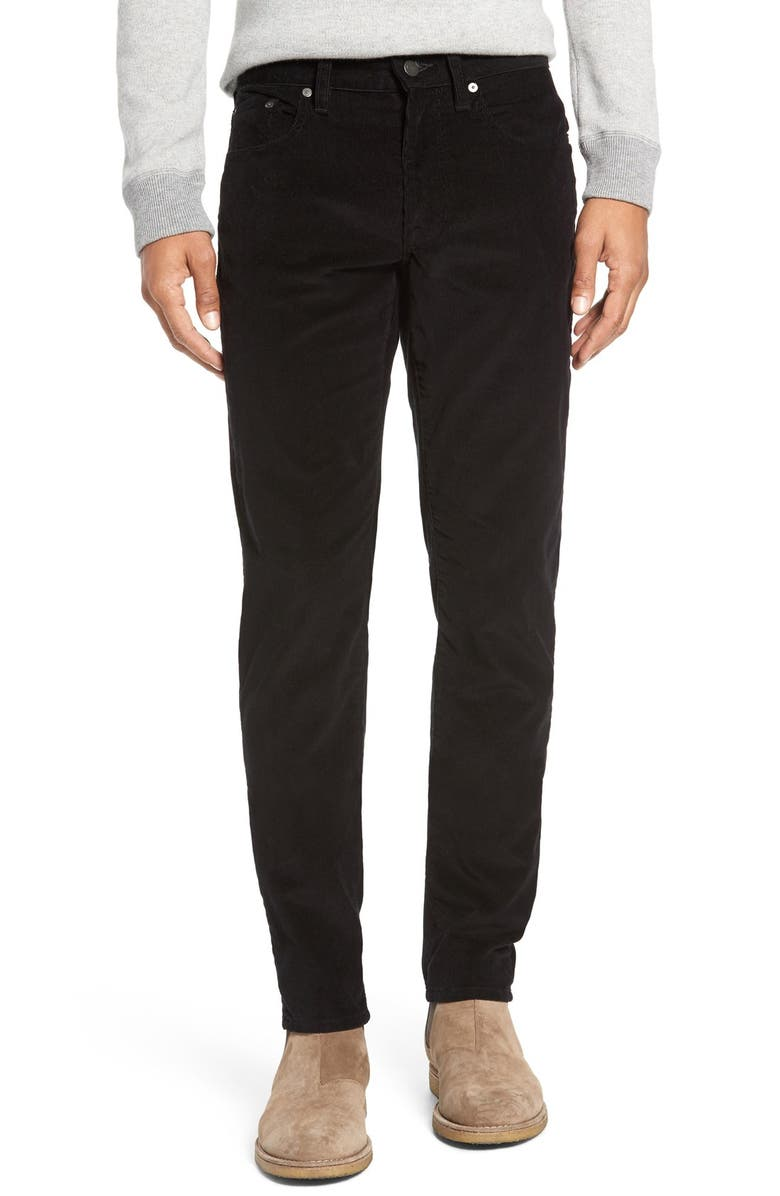 VINCE '718' Slim Fit Stretch Corduroy Pants, Main, color, 001