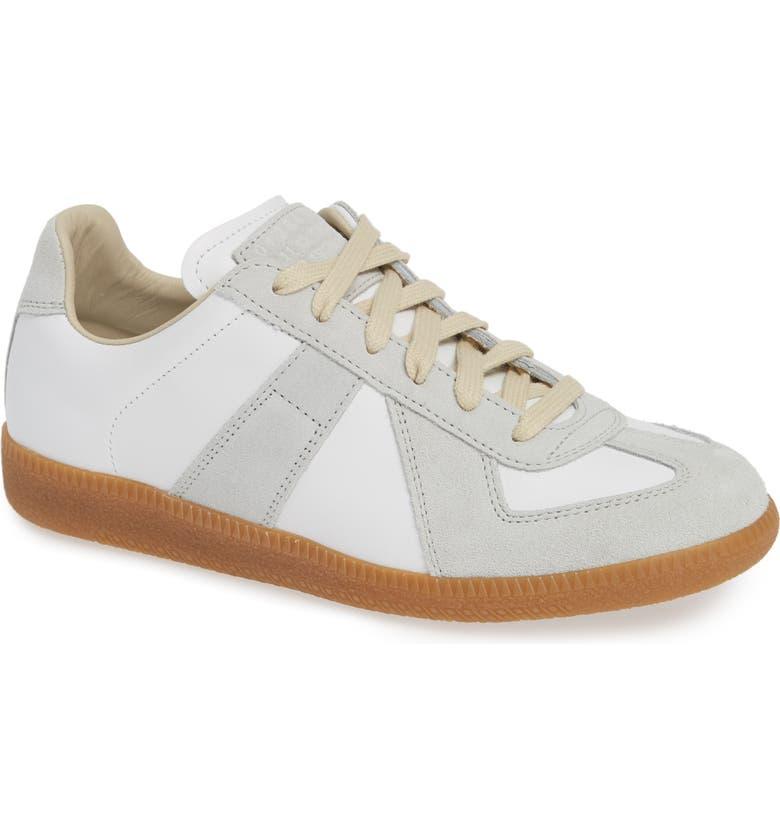 MAISON MARGIELA Replica Low Top Sneaker, Main, color, WHITE