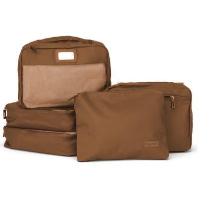 Calpak Set Of 5 Packing Cubes - Brown