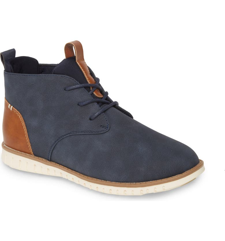 1901 Chukka Boot, Main, color, NAVY FAUX LEATHER