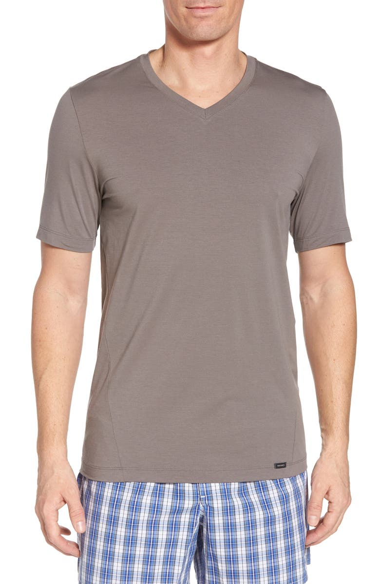 HANRO Liam V-Neck T-Shirt, Main, color, MOONROCK