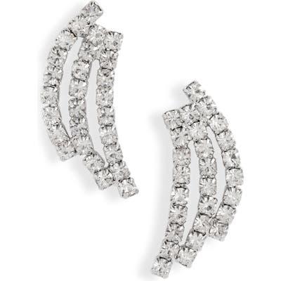Cristabelle Triple Stick Crystal Earrings