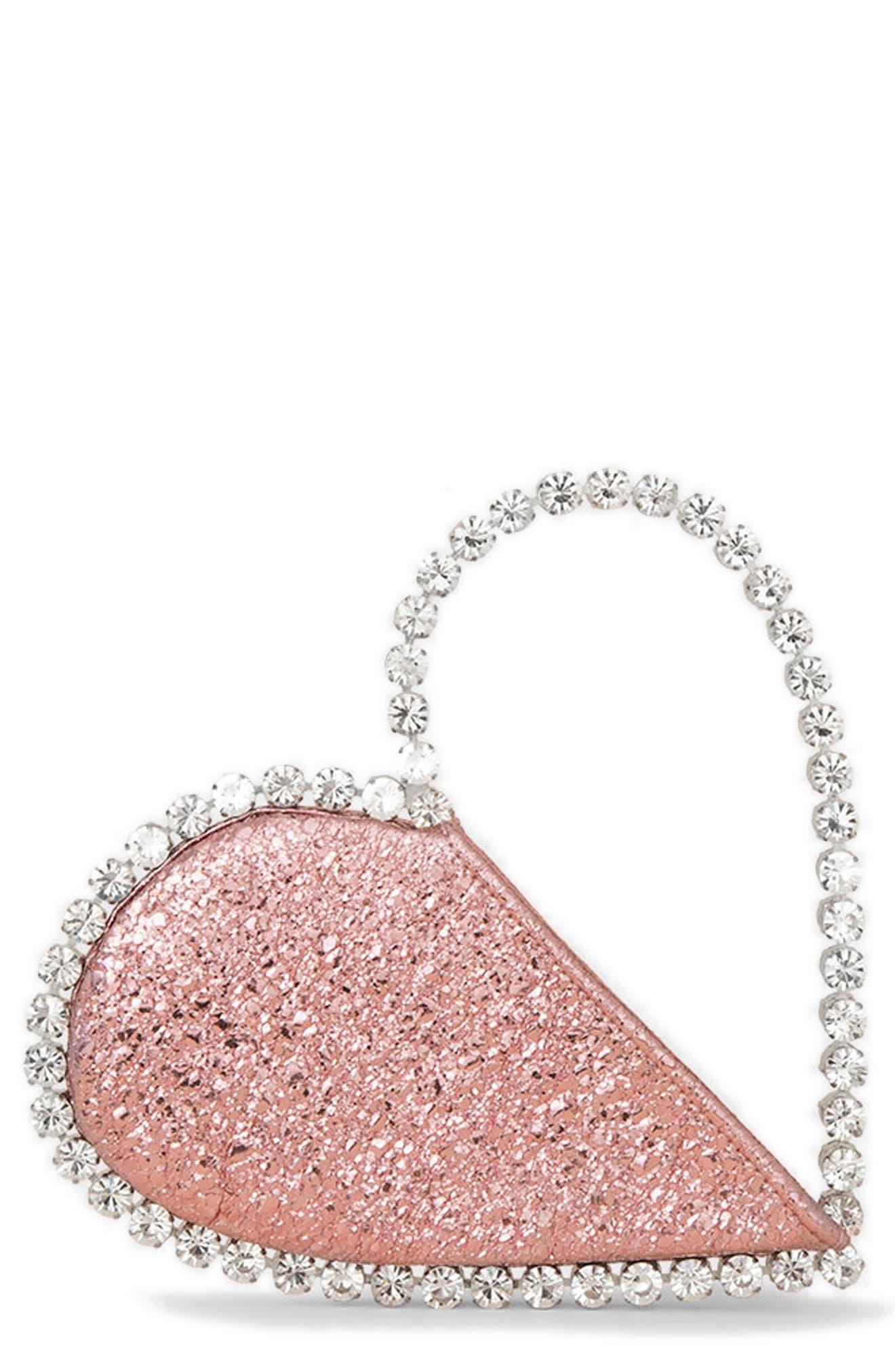 Love Crystal Top Handle Bag