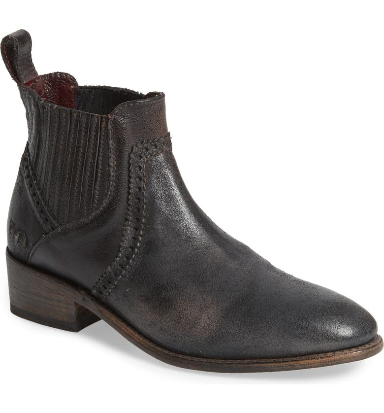 BED STU Ellice Bootie, Main, color, BLACK RUSTIC