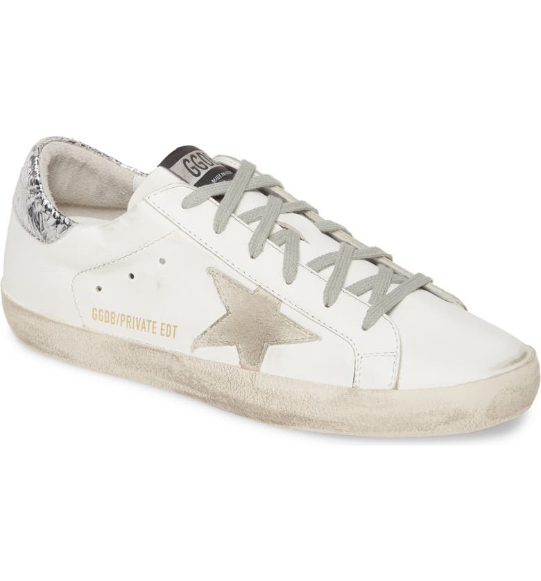 GOLDEN GOOSE Superstar Sneaker, Main, color, WHITE LEATHER/ PINK SOLE