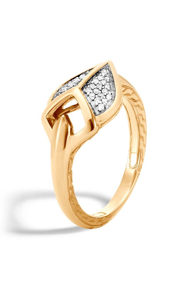 JOHN HARDY Legends Naga Diamond Ring, Main, color, 710