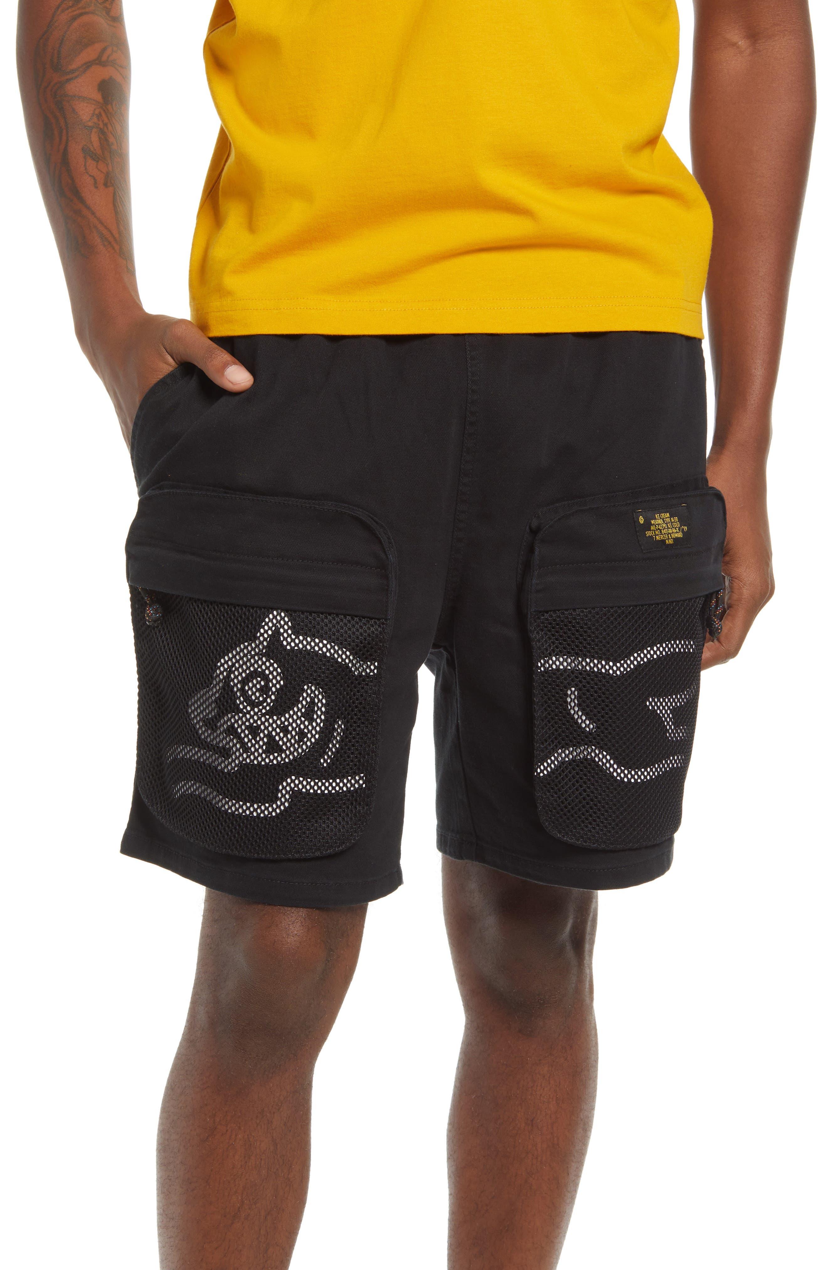 Chocolate Mesh Pocket Shorts