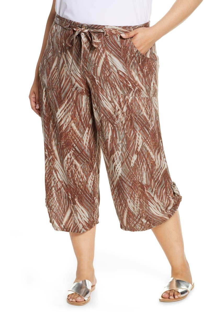 WIT & WISDOM Crop Pants, Main, color, BRINDLE OLIVE