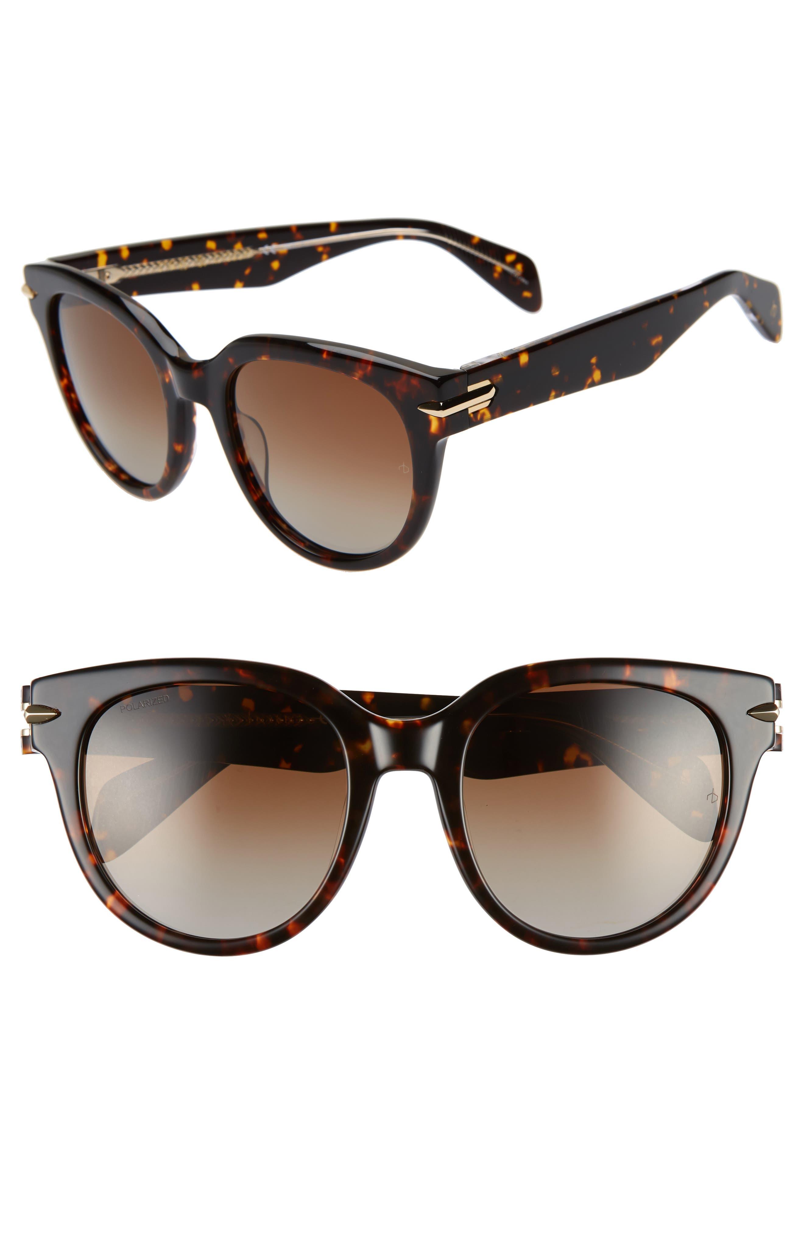 ,                             54mm Cat Eye Sunglasses,                             Main thumbnail 1, color,                             HAVANA/ CRYSTAL