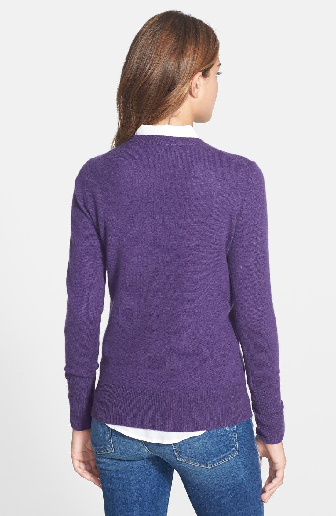 ,                             Cashmere V-Neck Sweater,                             Alternate thumbnail 61, color,                             500