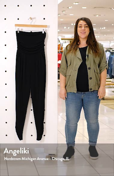 Strapless Ruched Jumpsuit, sales video thumbnail
