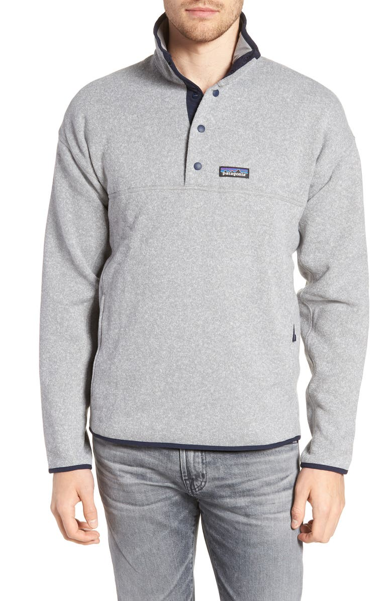 PATAGONIA Lightweight Better Sweater Pullover, Main, color, FEATHER GREY