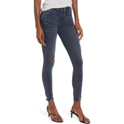 Dl1961 Emma Ripped Ankle Skinny Jeans, 7 - Blue