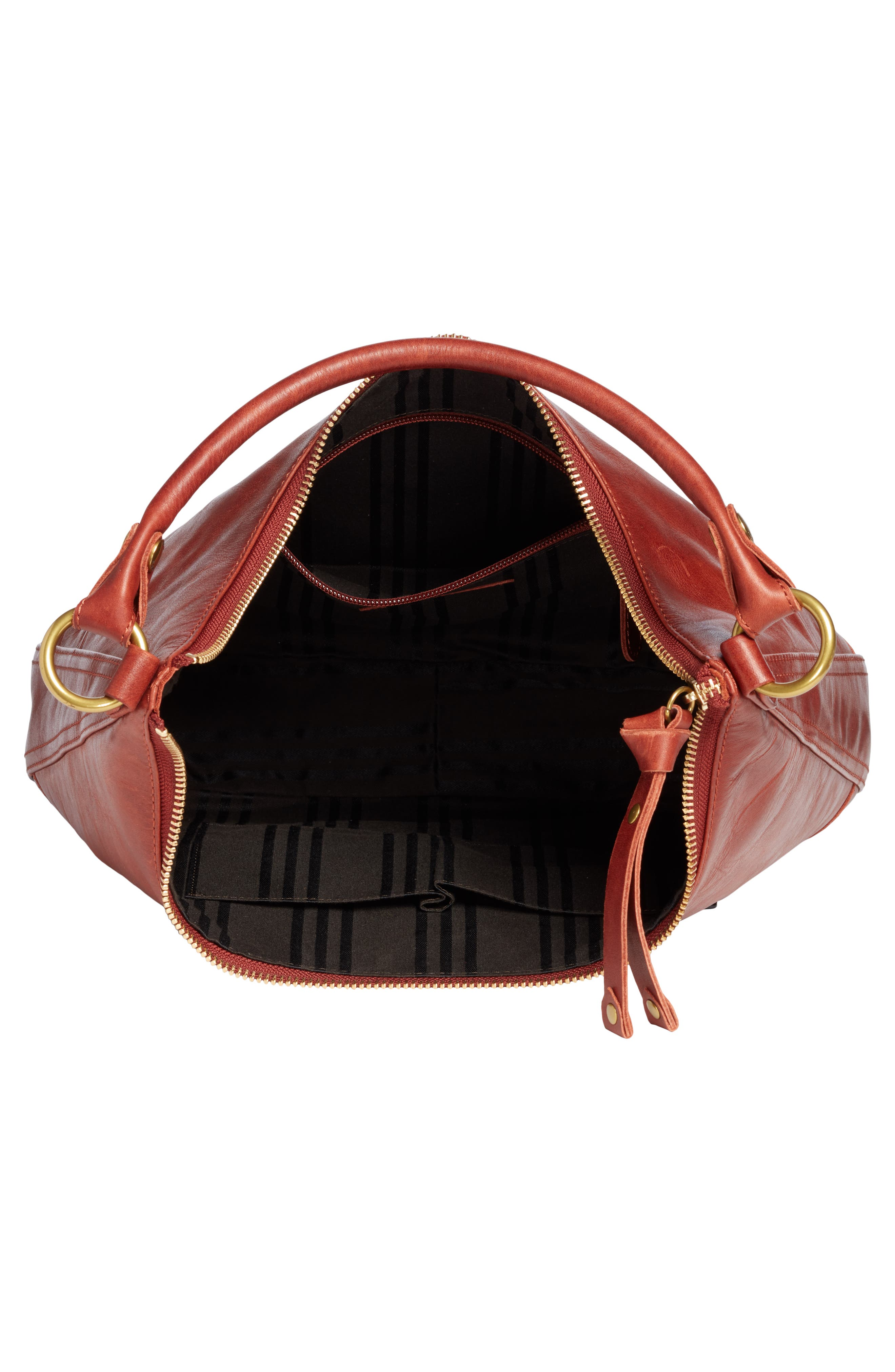,                             Melissa Large Leather Hobo,                             Alternate thumbnail 4, color,                             600
