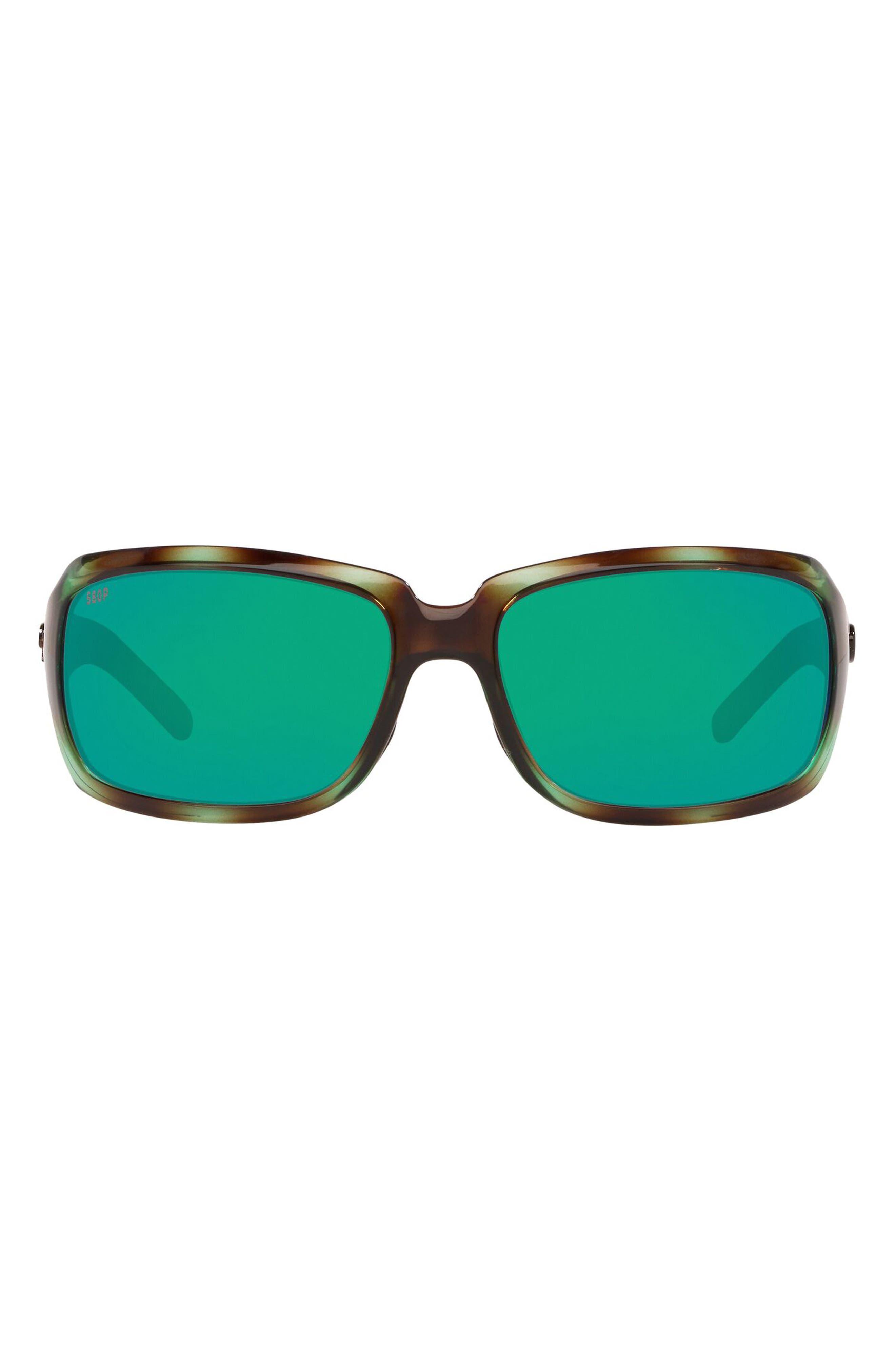 64mm Polarized Oversize Rectangle Sunglasses