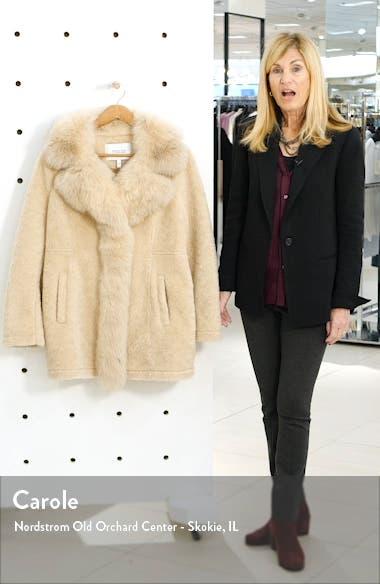 Genuine Shearling & Fox Fur Coat, sales video thumbnail