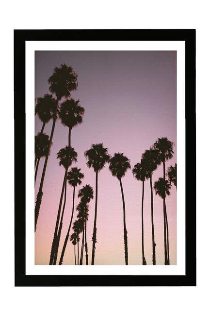 Image of Wynwood Studio Purple Palms Nature & Landscape Framed Wall Art