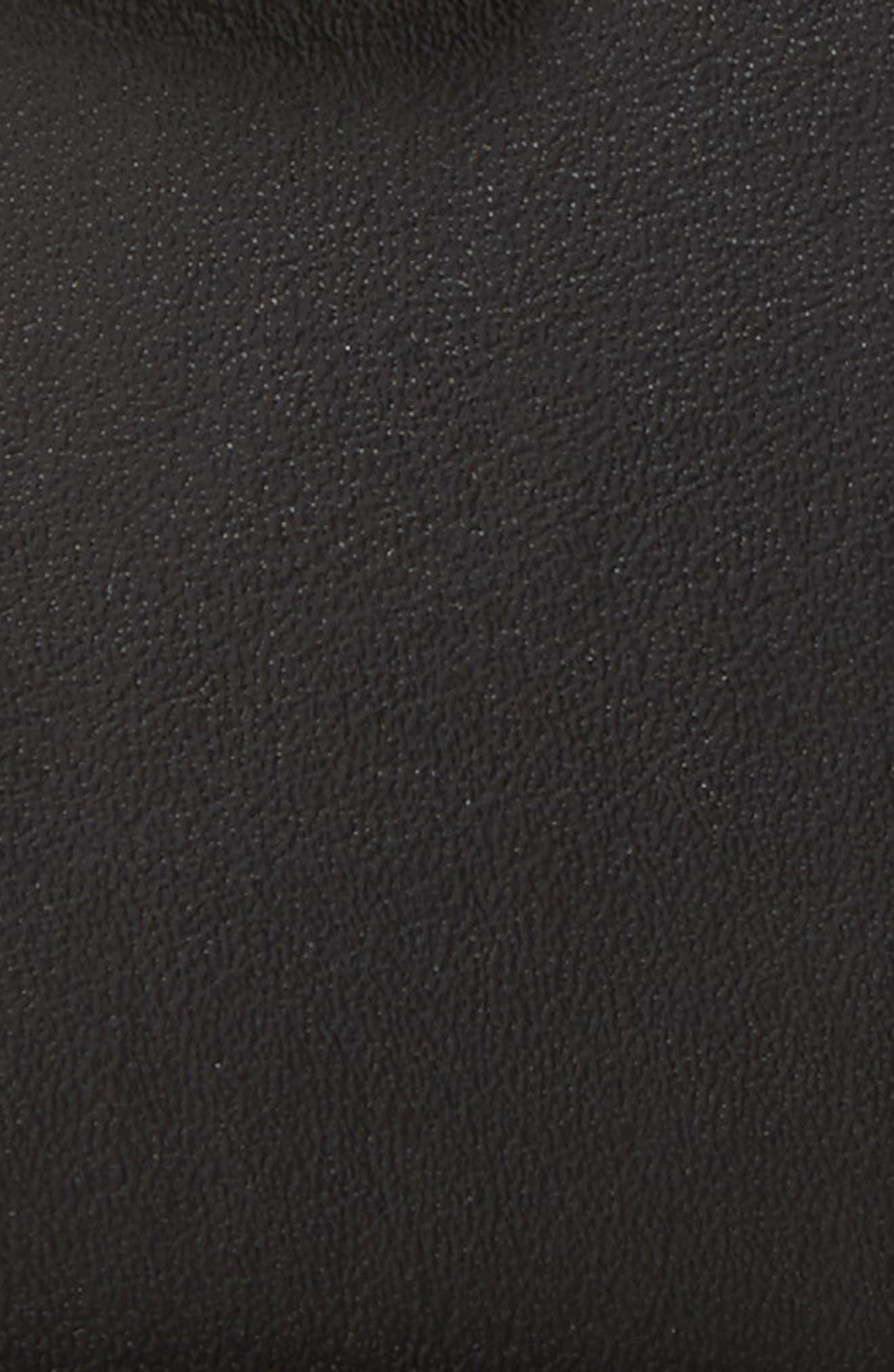 ,                             Logo Leather Belt,                             Alternate thumbnail 2, color,                             BLACK